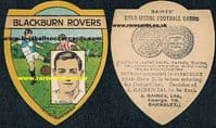 Blackburn & Ireland David Rollo on a superb thick-card later issue Baines shield